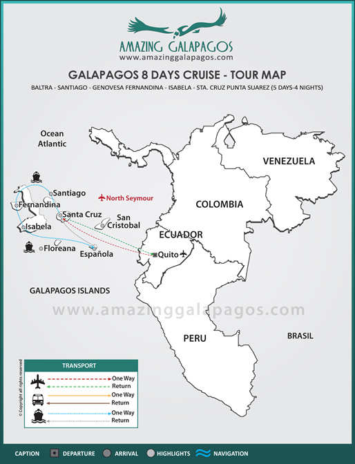 Tourmap Galapagos 8 days cruise