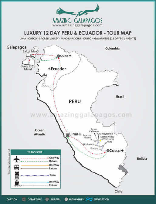 Tourmap Luxury 12 Day Peru & Ecuador